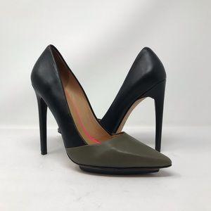 L.A.M.B. Colorblock Stilletto Heels Black Green